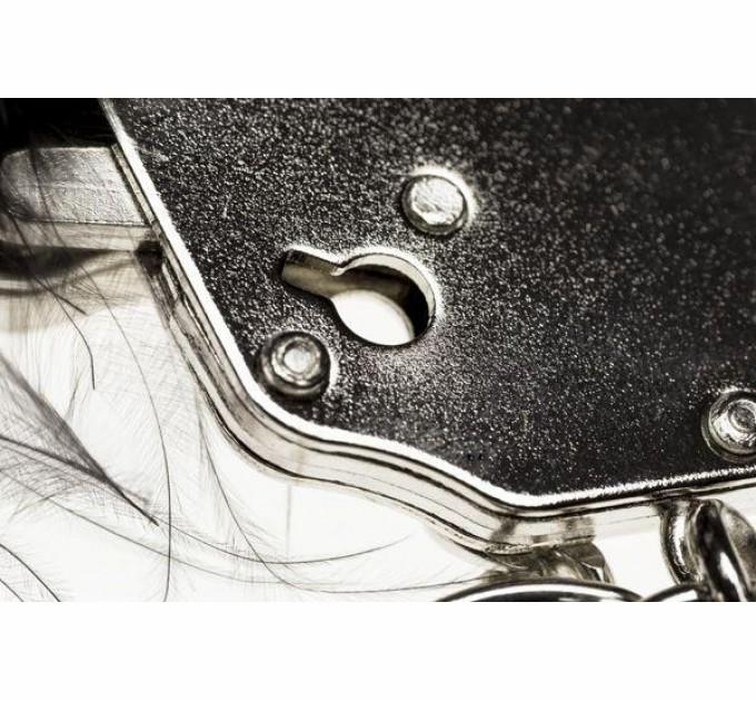 Наручники с розовой отделкой Adrien Lastic Handcuffs Pink (AD30301)