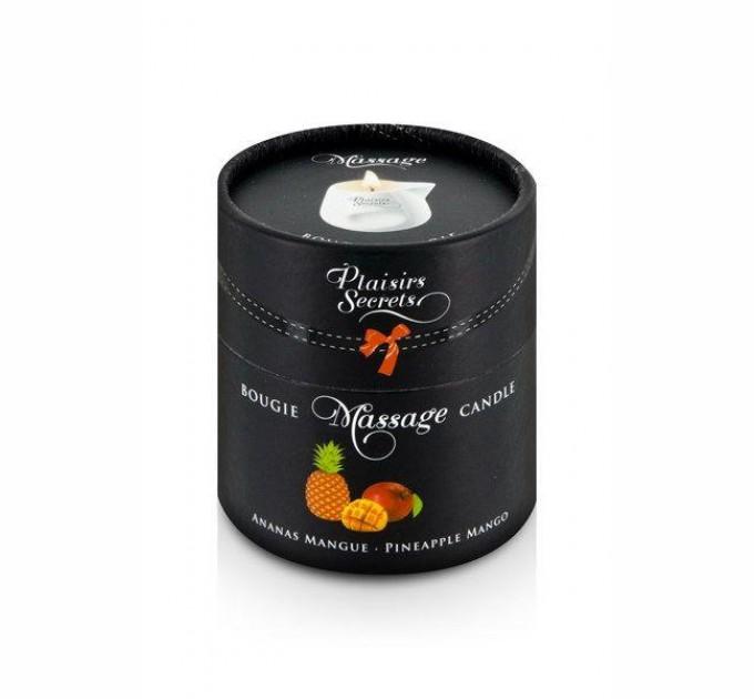 Массажная свеча Plaisirs Secrets Pineapple Mango 80 мл (SO1852)