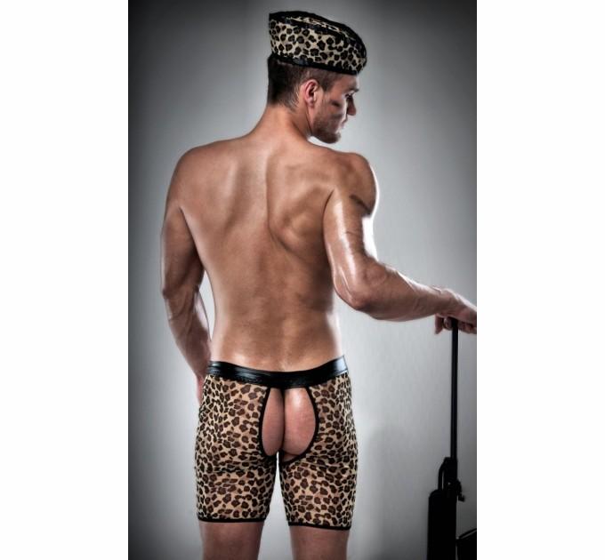 Мужской костюм Passion 024 SHORT S/M Леопард (PSM0242)