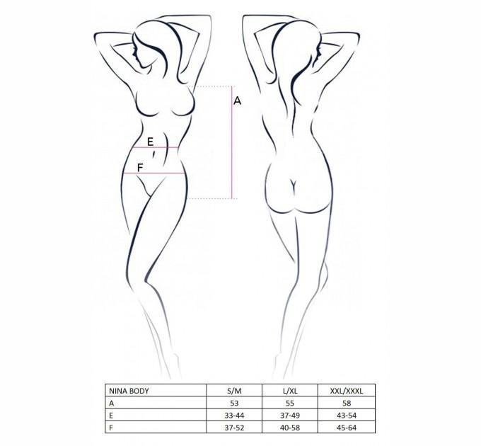 Женское боди Passion NINA BODY XXL/XXXL Леопард (EL13103)