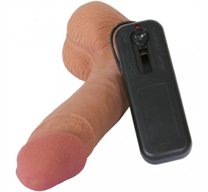 Вибратор Topco Sales CyberSkin® Vibrating Cyber Cock with Balls Телесный