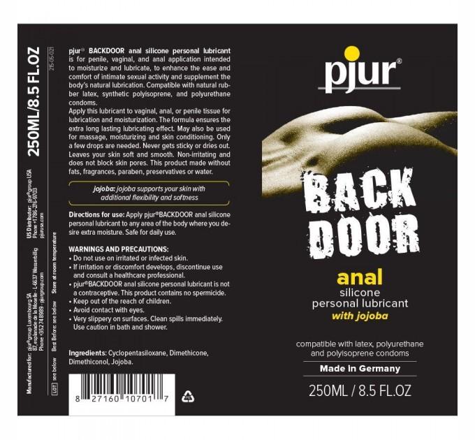Анальная смазка Pjur Backdoor anal Relaxing jojoba silicone lubricant 250 мл