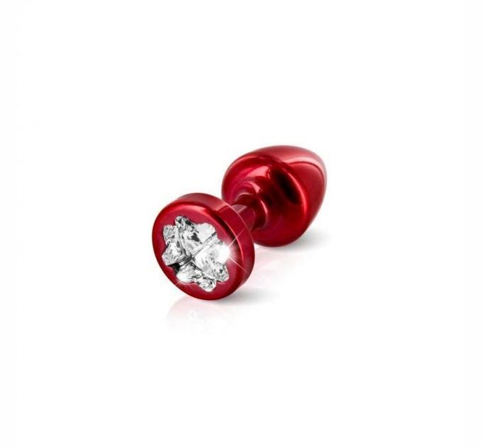 Анальная пробка со стразом Diogol Anni R Clover Кристалл 30 мм Red