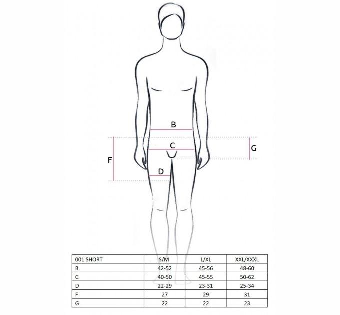Мужские трусы Passion 001 SHORT L/XL Черный (PSM0011)