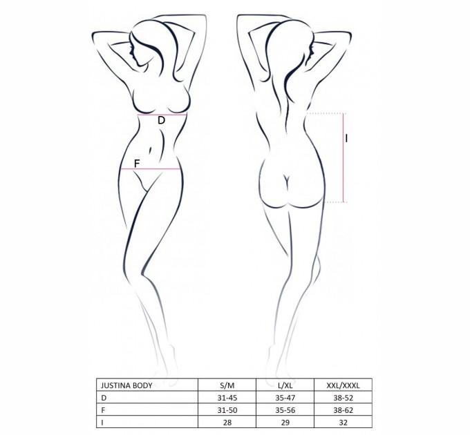 Женское боди JUSTINA BODY S/M Черный (EL15402)